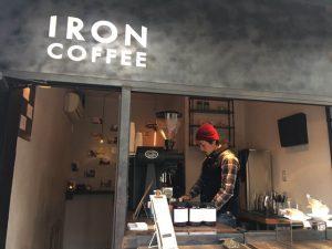 IRON COFFEEのクールな店頭