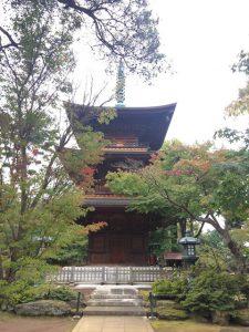 寺内は立派な三重の塔やきれいなお庭もありました。