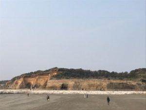 断崖絶壁、東洋のドーバーといわれているそうです。