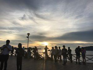 沈む夕日を見るのは久しぶり