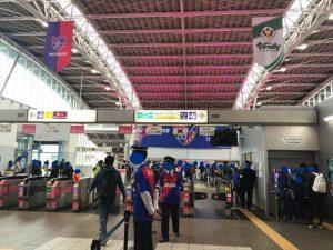 (写真2)駅全体が東京サポーター
