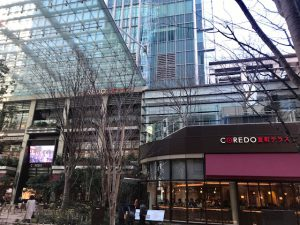 お隣りはマンダリンオリエンタル東京ホテル
